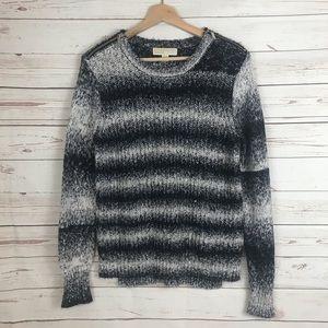 MICHAEL KORS Black & White Striped Sweater Sz Med